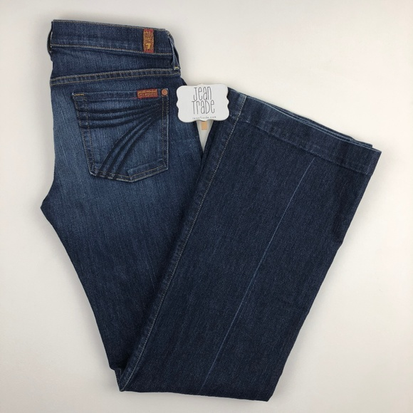 7 for all Mankind Denim - 7 For all Mankind Dojo Flare Jean 28x34